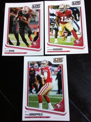 2018 Score San Francisco 49ers Card Lot