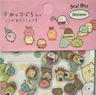 ☆※☆※☆CLEARANCE!!! ♥♥KAWAII ADORABLE PINK SUMIKKO GURASHI STICKER FLAKES, 80 PCS♥♥