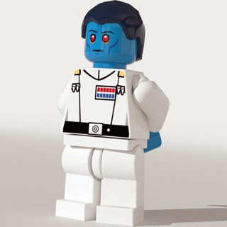 New Admiral Thrawn Super Heroes Minifigure Building Toys Custom Lego