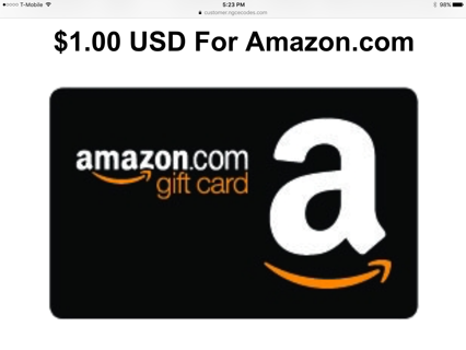 $1.00 Amazon.com Gift Card
