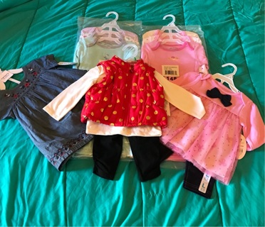 Lot of Brand New Girls Clothes 6-9 Months