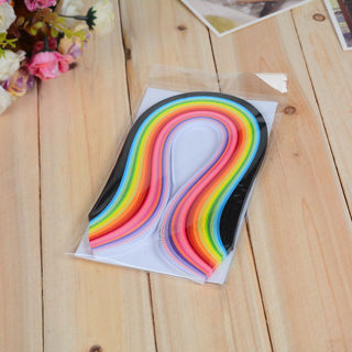 [GIN FOR FREE SHIPPING] 260Pc 26 Colors Paper Quilling Pressure Relief Gift Manualidades