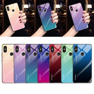 Gradient Tempered Glass Case For Xiaomi Mi 8 Lite Mi A2 Lite A1 Mix 3 Redmi 6 Pro 5 Plus 6A Note 5