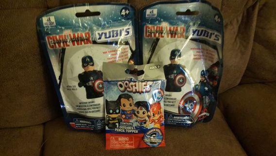 Super hero ooshies and yubis blind packs new