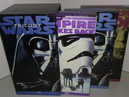 1995 STAR WARS Trilogy boxed set VHS tapes - VG collectible condition