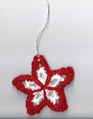 ONE Crocheted Christmas Star