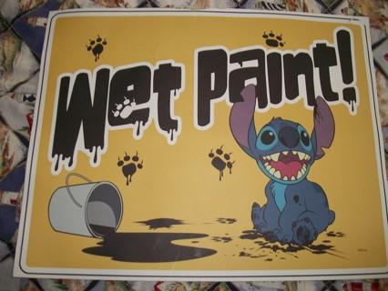 disney wet paint sign