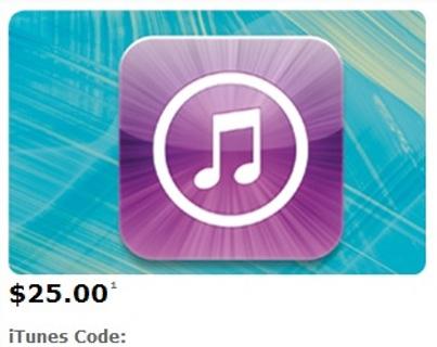 $25 iTunes Gift Code