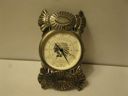 old vintage Sterling Silver Liberty 1911 Indian Head Watch