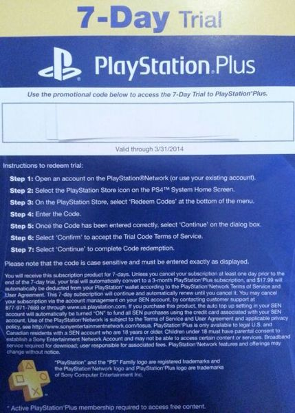 how to get playstation plus 2 day free trial