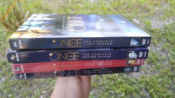 ONCE UPON A TIME Seasons 1 thru 4 DVD Boxed Sets ~ FREE SHIPPING ~ Robert Carlyle Colin O'Donoghue