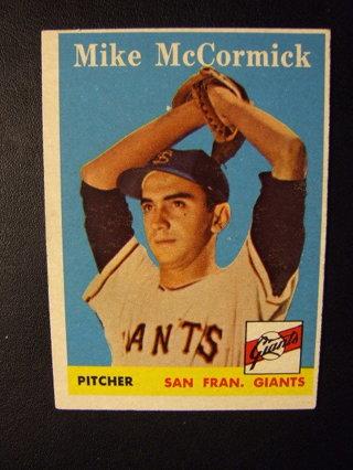 Free 1958 Topps Baseball Nrmt Mint Card No 37 Mike Mccormick