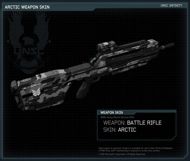 Free: Halo 4 Arctic Battle Rifle Skin DLC Code Xbox 360