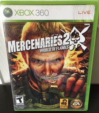 "XBOX 360 Game - ""Mercenaries 2 - World In Flames"" - rated T"