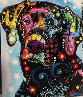 "CUTE LABRADOR DOG  - 4 x 5"" MAGNET"