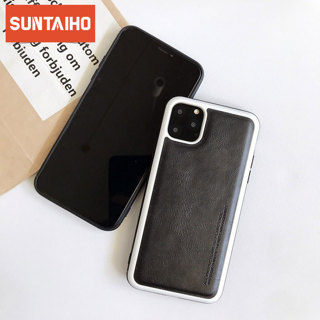 Suntaiho Leather Skin Soft TPU Silicone Case For iPhone 11 Pro Max Cover Ultra Thin Phone Case For