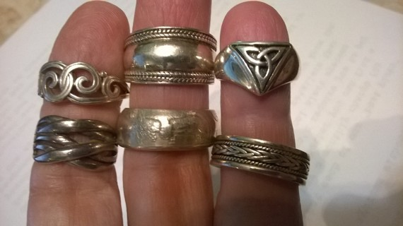 Choice of TWO Sterling Silver Rings