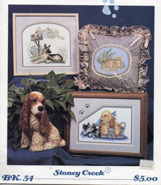 Cross Stitch Leaflet: (more than 2 pages):Paws & Claws Cats & Dogs