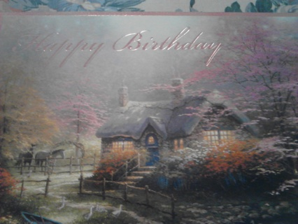 Free Beautiful Christian Birthday Card With Thomas Kinkade