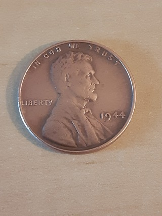 1944 Lincoln Wheat Penny In A Protective Holder