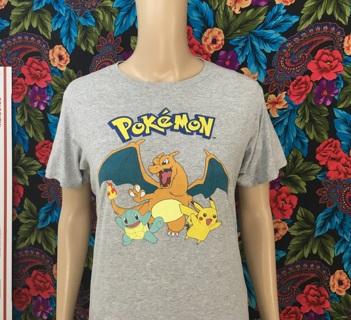 Pokemon Shirt Charizard Pikachu Squirtle FREE SHIPPING