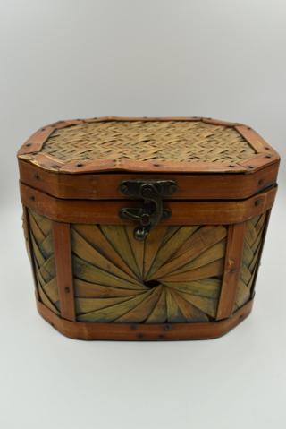 Bamboo Basket Box with Latch