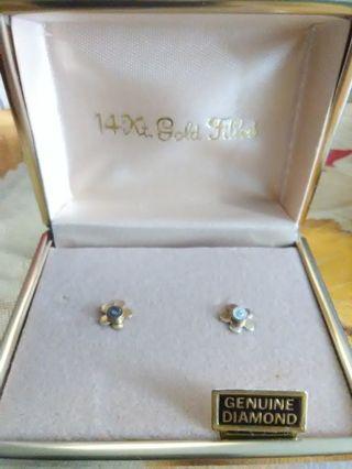 14kt Gold Filled Flower Earrings
