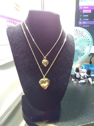 Mother And Daughter Heart Locket Necklaces