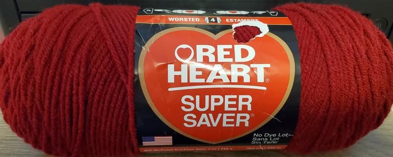 "NEW - Red Heart Super Saver Yarn - ""Burgundy"""