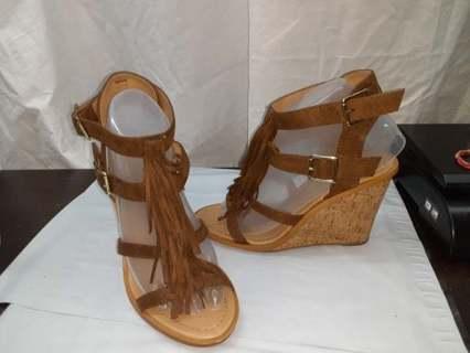 Strap Maryjane Wedge Heel Shoes 7 1/2