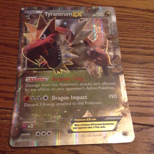 Free Tyrantrum Ex Oversized Black Star Promo Xy70 Card