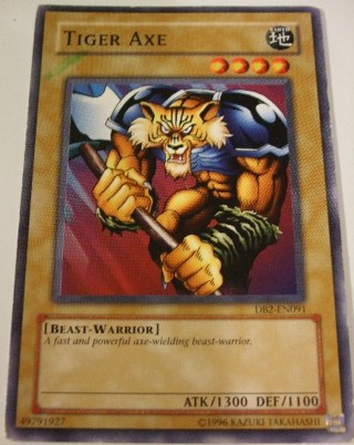 Free: TIGER AXE Yugioh Earth/Beast-Warrior Card - Trading ...