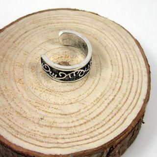 Ladies Elegant Adjustable Silver Plated Toe Ring