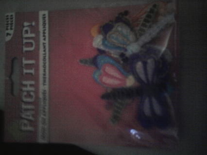 Brand new in package 7 piece dragonfly Iron on patches