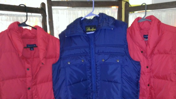 (3) BRAND NEW/ NEVER WORN Land's End Bubble Vests *LOW GIN When You Buy All 3*