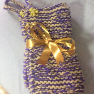 Beautiful Easter Gift Set. Two (2) Hand Knitted PotHolders .