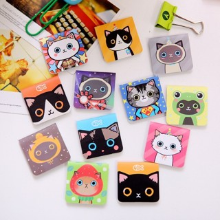3PCs Cute Cat Creative Metal Tag Bookmark Clip Cute Logo Magnetic Bookmark MINI Book Folder