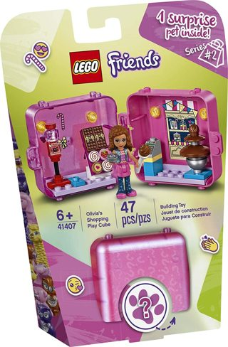 ❤~ LEGO Friends Olivia's Shopping Play Cube 41407 Building Kit, Candy Store Fun ~❤