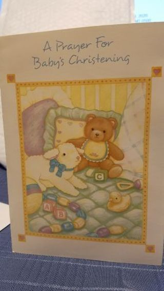 """A PRAYER FOR BABY'S CHRISTENING"" CARD W/ ENVELOPE"