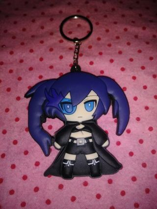 "❤♡❤♡❤BRAND NEW ANIME SILICON ""BLACK ROCK SHOOTER"" KEYCHAIN❤♡❤♡❤LAST 1!"