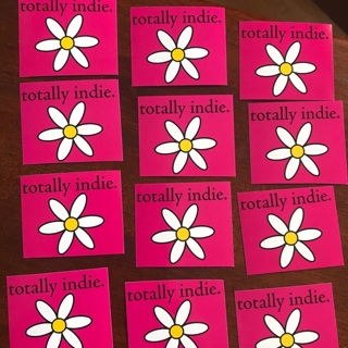 12 NEW Totally Indie Stickers, Free Mail