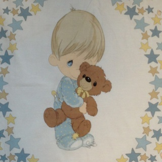 Free: PRECIOUS MOMENTS Fabric Panel – Baby Boy Quilt – Free ... : precious moments quilt - Adamdwight.com