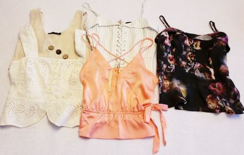 *Gorgeous* 5pc Spring/Summer Cami Lot Size Small.