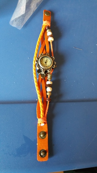 leather watch, brand new