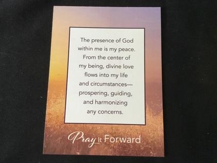 """UNITY Pray It Forward ~ Prayer Card ~ 3.75"""" x 5"""""""
