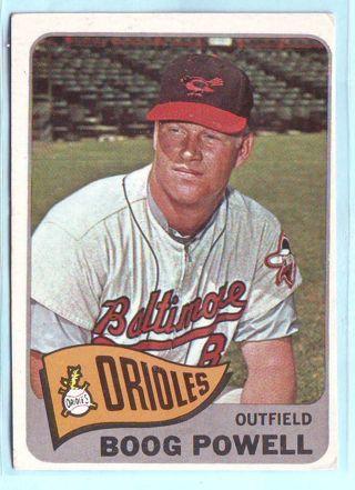 1965 Topps Boog Powell Baseball Card # 560 Orioles