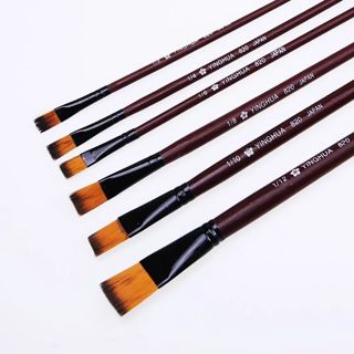 6 Pcs/Set New Different Size Artist Nylon Hair Paint Brush Watercolor Acrylic Oil Painting
