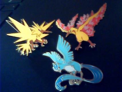 Pokemon (Tiered) Legendary Birds-Articuno, Zapdos, & Moltres Pins New