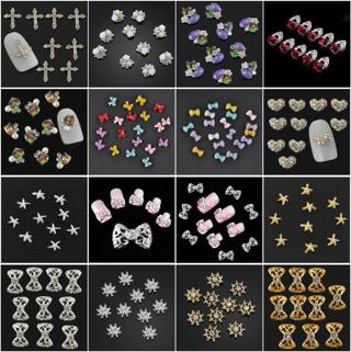 10PCS Alloy Pearl 3D Nail Art Decoration Jewelry Glitter Rhinestone Manicure JT1