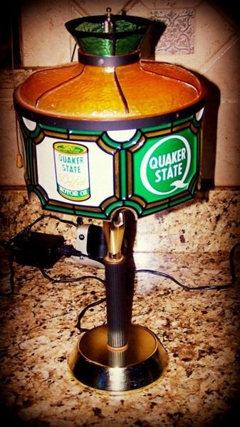 Free Vintage 60s Quaker State Lamp Antiques Listia